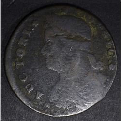 1787 CONNECTICUT COPPER BUST CENT, VG/F