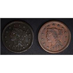1847  XF porosity & 1850 XF LARGE CENTS
