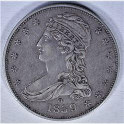 1839-O BUST HALF DOLLAR XF