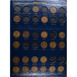 PARTIAL LINCOLN CENT SET  1909 & UP