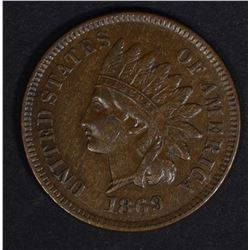 1869 INDIAN CENT XF+