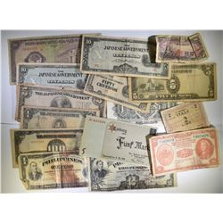 15 PIECES OF FOREIGN CURRENCY: