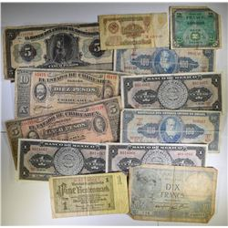 12-PIECES FOREIGN CURRENCY: