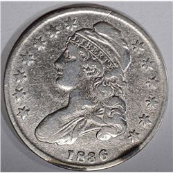 1836 BUST HALF DOLLAR, VG/FINE