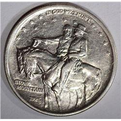 1925 STONE MOUNTAIN COMMEM HALF DOLLAR, CH BU