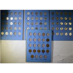 LOT: 9 diff INDIAN CENTS; 35 diff SILVER