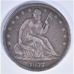 1877 SEATED HALF DOLLAR XF