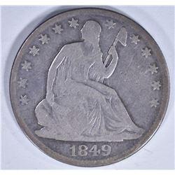 1849-O SEATED HALF DOLLAR VG/F