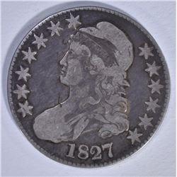 1827 BUST HALF DOLLAR, O-139 FINE, RARE