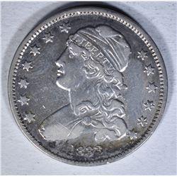1833 CAPPED BUST QUARTER  AU