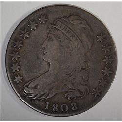 1808 BUST HALF DOLLAR VF