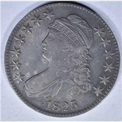 1825 BUST HALF DOLLAR AU/BU