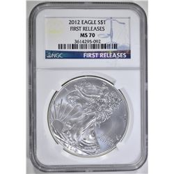 2012 AMERICAN SILVER EAGLE NGC MS 70