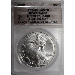 1998 AMERICAN SILVER EAGLE DOLLAR