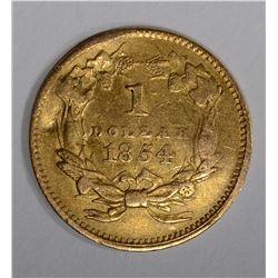 1854 $1 ONE DOLLAR GOLD TYPE 2