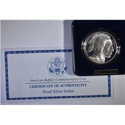 2001 AMERICAN BUFFALO Pf COMMEM SET BOX/COA