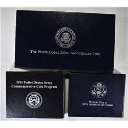 Set of 3 Commemorative Coins