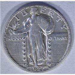 1927-S STANDING QUARTER  AU