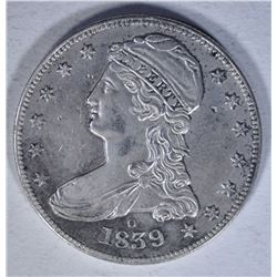 1839-O CAPPED HALF DOLLAR  AU/BU