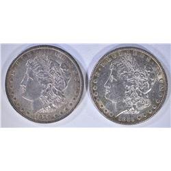 1879 & 1885 AU+ MORGAN DOLLARS