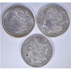 1889-O AU/BU 1902-O & 1904 AU MORGAN DOLLARS