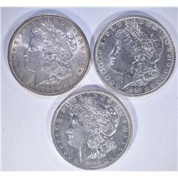 1888, 89 & 91 AU MORGAN DOLLARS