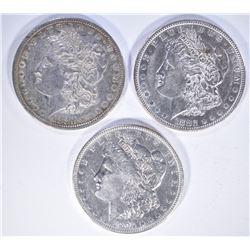 1880, 82 & 1904 U MORGAN DOLLARS