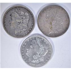 1878 VG, 86 XF & 90 XF/AU MORGAN DOLLARS