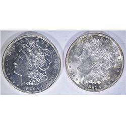 2-CH BU 1921 MORGAN DOLLARS