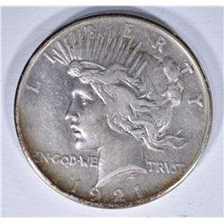 1921 PEACE DOLLAR, XF/AU KEY DATE