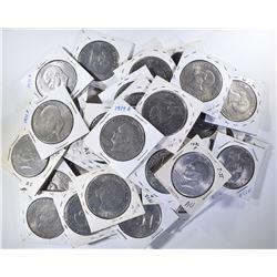 40 EISENHOWER DOLLARS, VARIOUS DATES, MOSTLY AU