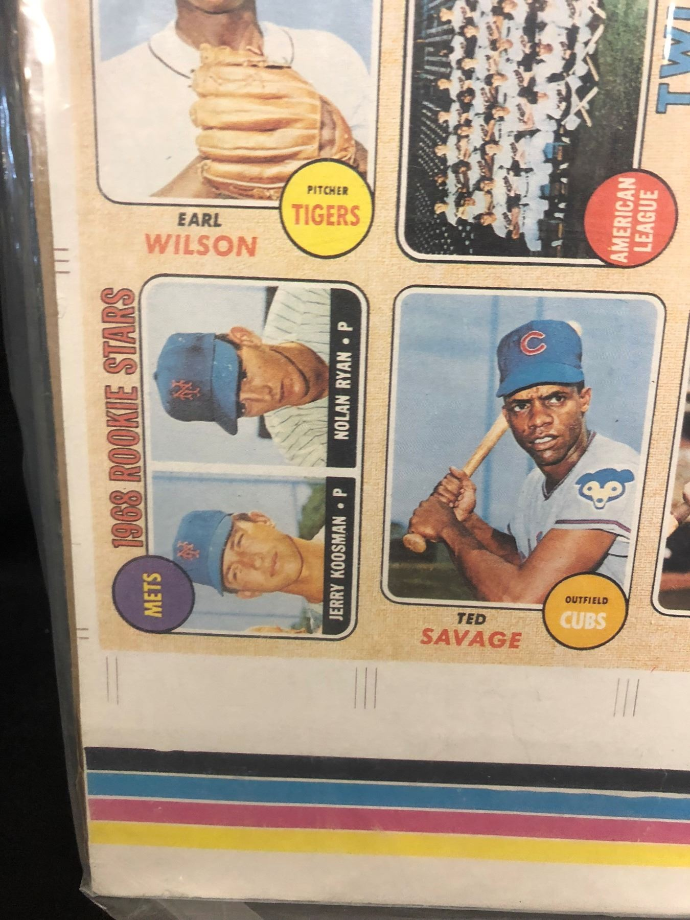 Unique Nolan Ryan Rookie Card Proof 1 Of 1000 Reprint Baseball Card Sheet