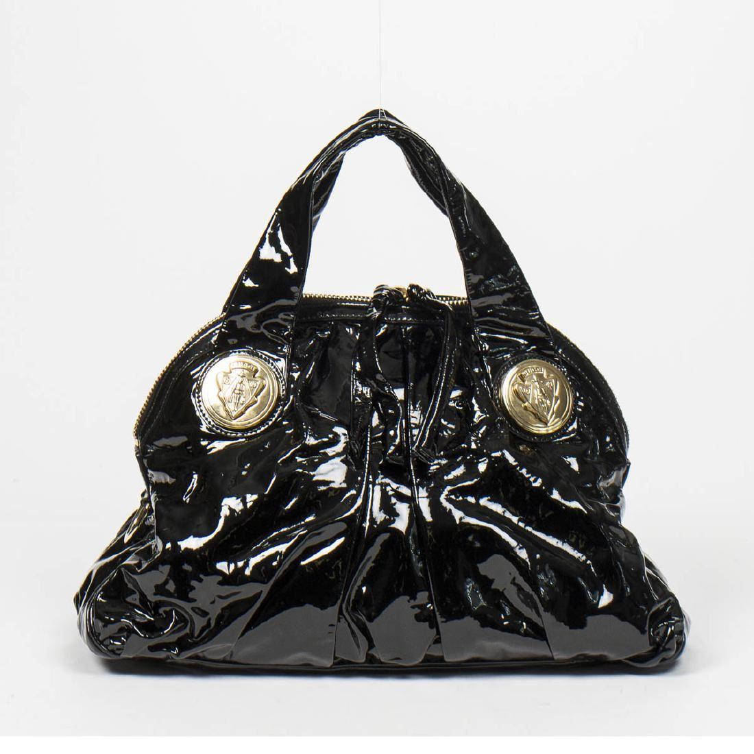 79b5c8ede68 Image 1   GUCCI Hysteria Tote in Black Patent Leather ...