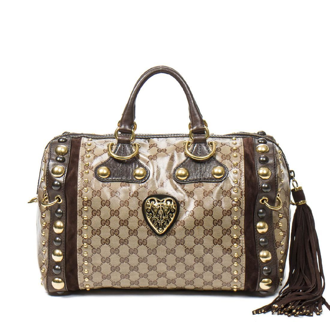 e15dc0a5c5e Image 1   GUCCI Babouska Boston bag in Beige Crystal Monogrammed ...