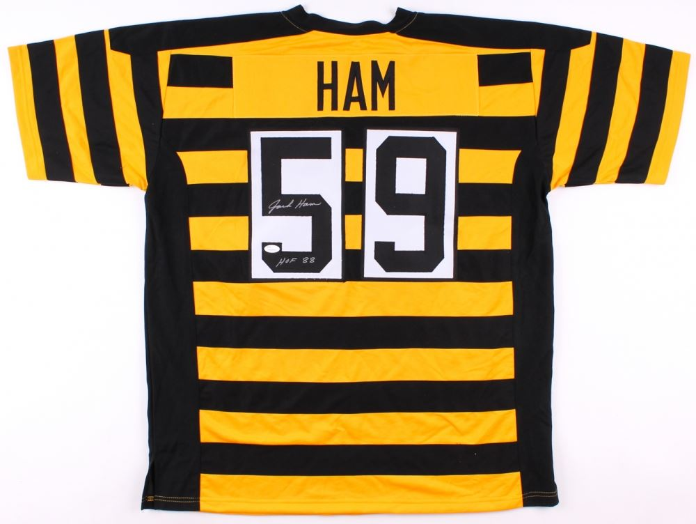 various colors 94b33 3b9cf Jack Ham Signed Steelers Jersey Inscribed