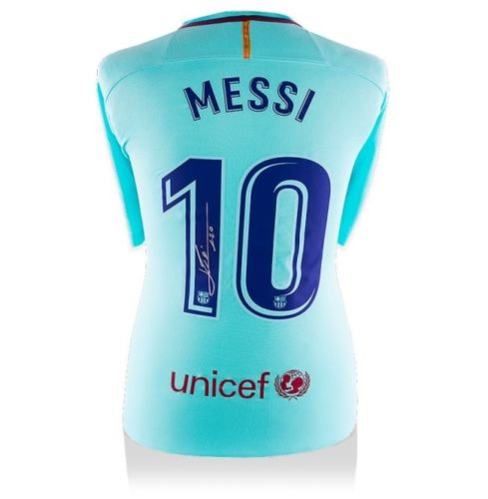 competitive price 59114 146d1 Lionel Messi Signed Barcelona Jersey (Messi COA)