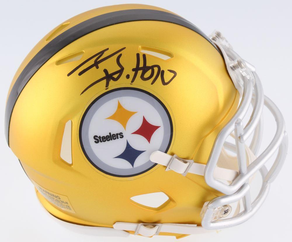 044492884 Image 1   T.J. Watt Signed Steelers Mini-Helmet (JSA COA Watt Hologram)