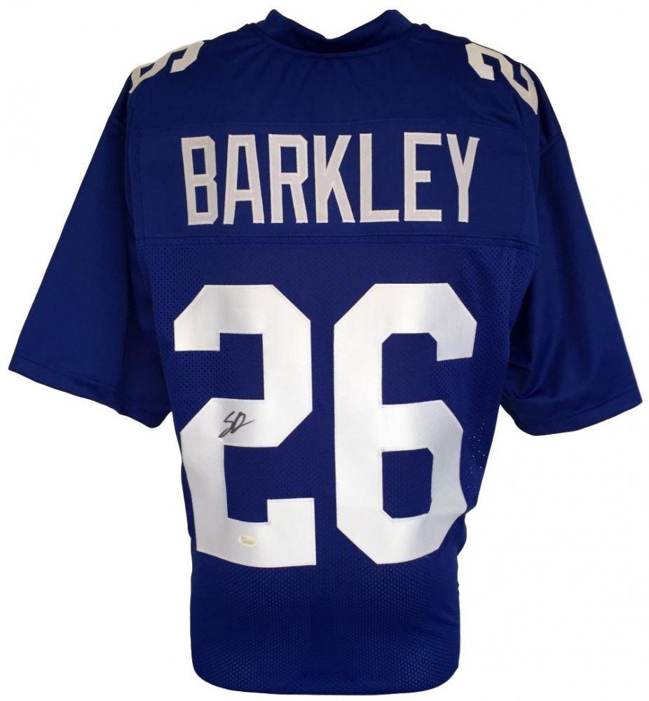 d8b03529396 Image 1 : Saquon Barkley Signed Giants Jersey (JSA COA)