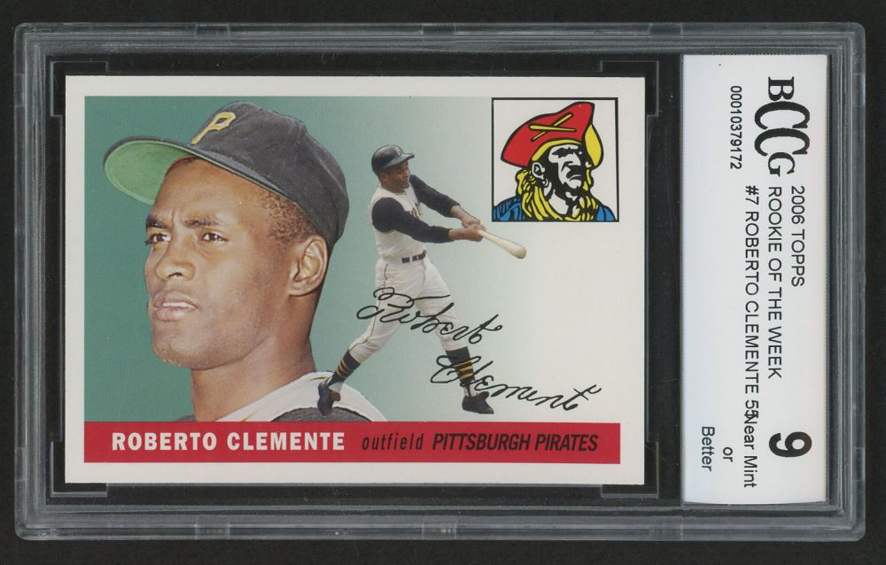 2006 Topps Rookie Of The Week 7 Roberto Clemente 55