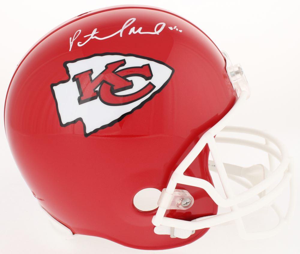 5f643232806 Autographs-Original Football-NFL Patrick Mahomes Autographed Kansas City  Chiefs Full-Size Football Helmet JSA COA
