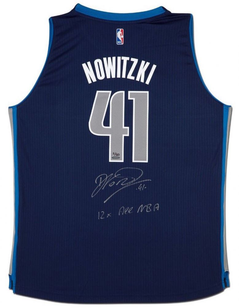 b1dc9a3adf1 Image 1   Dirk Nowitzki Signed Mavericks Limited Edition Adidas Jersey  Inscribed