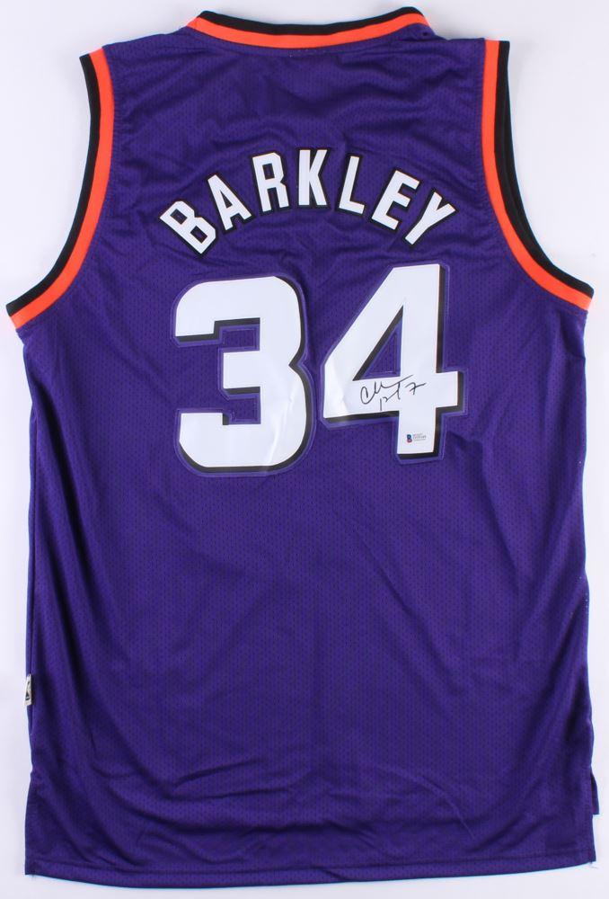hot sale online a7467 f0fcd Charles Barkley Signed Suns Jersey (Beckett Hologram)