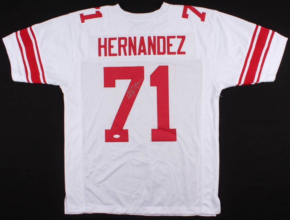 low priced 4c700 e3db6 Will Hernandez Signed Giants Jersey (JSA COA)