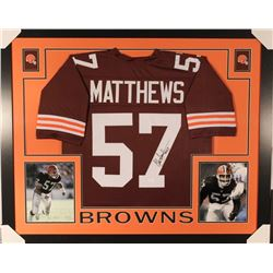 more photos a49fa d45bf Clay Matthews Signed Browns 35x43 Custom Framed Jersey ...