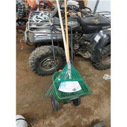 Fertilizer Cart & 2 rakes