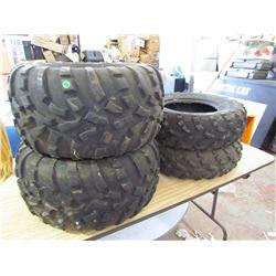 4 Quad Tires, 2 - 25X11-12; 2 - 25X8-12