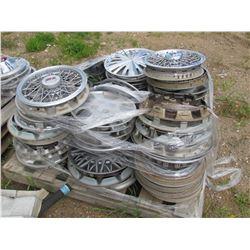 Pallet of hub caps