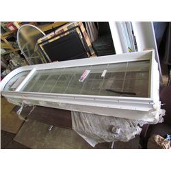 "NEW Large Window, AFG Glass Company w/inset metal crossbars, 8"" 2½ H x 2"" W"