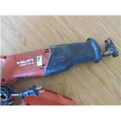 HILTI Sawzall w/18V battery & Charger