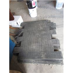 4 Concrete Stamps, approx 3ft x 4 ft